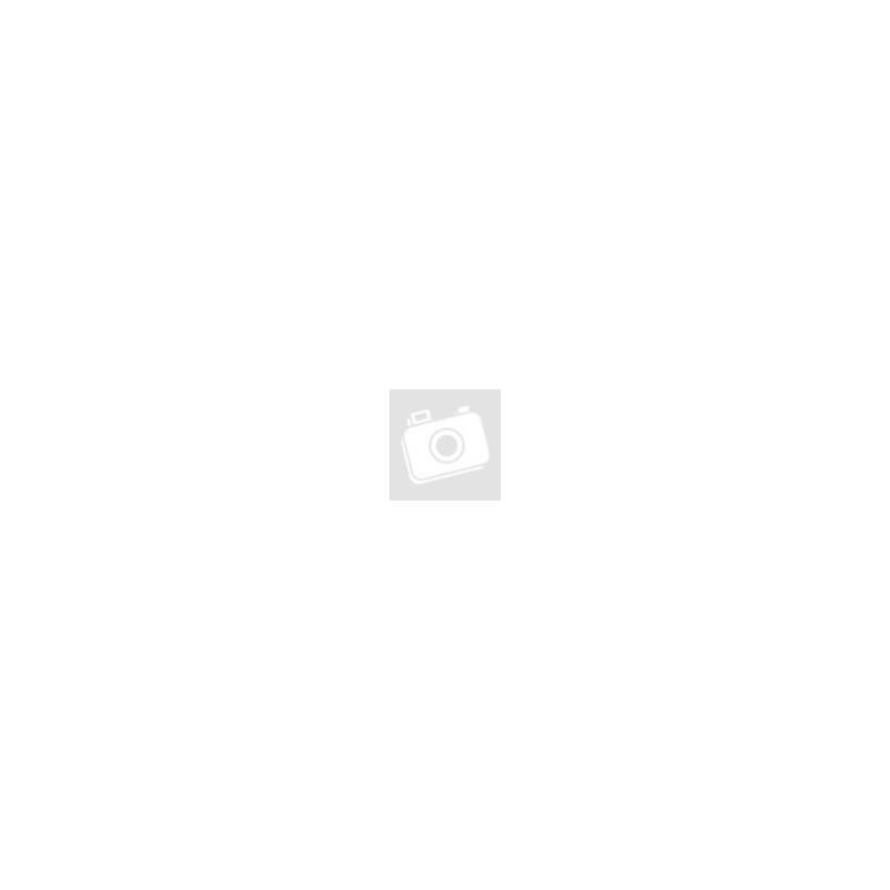 Gyűrű, állítható méret - fekete-fehér, csillogó - kör alakú, hullámos 2,5 cm - 18